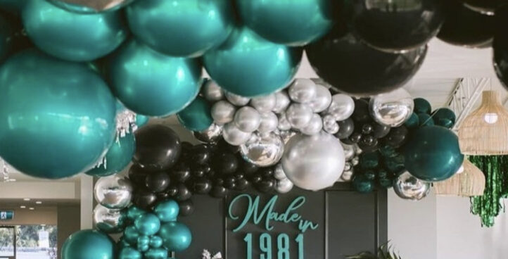 BALLOON CEILING SET UP